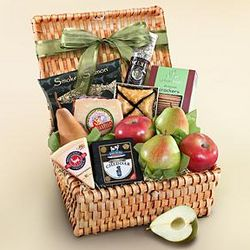 Artisan Cheese and Fruit Gift Basket