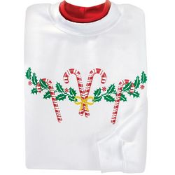 Candy Cane and Holly Sweatshirt