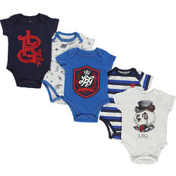 Prime Time Panda 5-Pack Infant Bodysuits