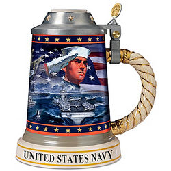 Strength and Honor U.S. Navy Pride Stein