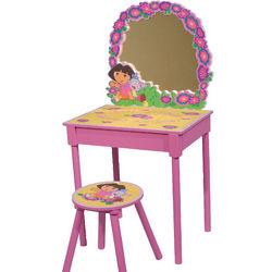 Dora the Explorer Girls Pink Vanity and Stool