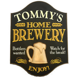 Personalized Handcrafted Home Brewery Sign