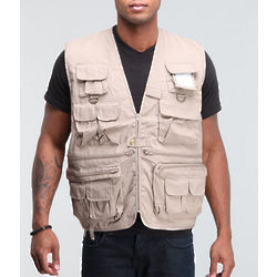Khaki Military Travel Vest