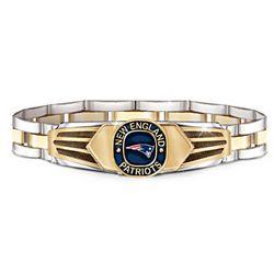 Men's New England Patriots Stainless Steel Bracelet