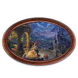 Disney Beauty & the Beast Collector Plate with Personalized Names