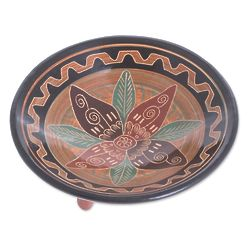 Flower of Yesteryear Ceramic Decorative Plate
