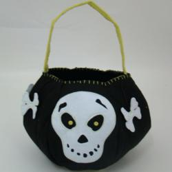 Grinning Skull Personalized Halloween Bag