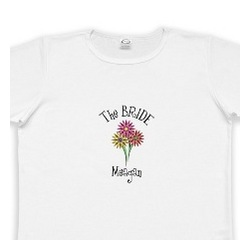 Personalized Women's Flower Series Wedding Party T-Shirt