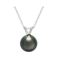 Tahitian Pearl Pendant in 18K White Gold