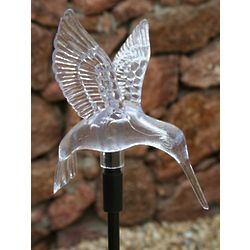 Hummingbird Color Changing Solar Stake Light