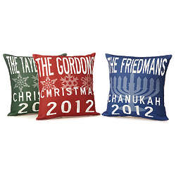 Personalized Family Holiday Pillows