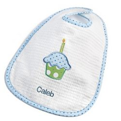 Boy's Birthday Cupcake Bib