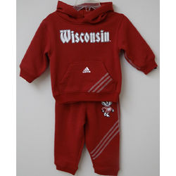 Infant's Wisconsin Hoodie And Pants