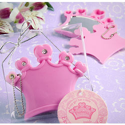 Crown Design Mirror Compact and keychain