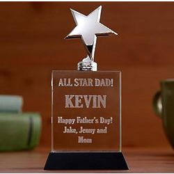 Personalized Metal Star Trophy