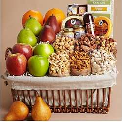 Gourmet Variety Fruit and Nut Gift Basket
