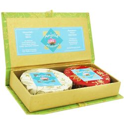 Saffron Almond Milk and Honey and Indian Lotus Soap Gift Set