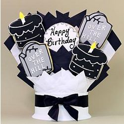 Over the Hill Birthday 5-Piece Cookie Bouquet