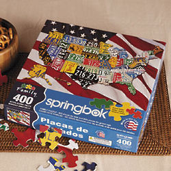 State Plates 400-Piece Puzzle for Family