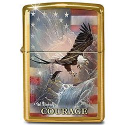 Courage Patriotic Eagle Art Zippo Lighter