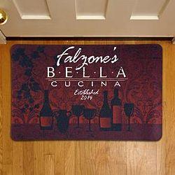Personalized Bella Cucina Doormat