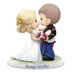 Precious Moments USMC Always Faithful Wedding Figurine