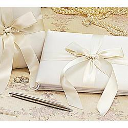 Tied with a Bow Guest Book and Pen