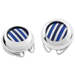 Striped Silver Plated Button Covers