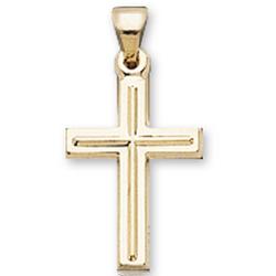 14k Gold Classic Elegance Children's Cross Pendant