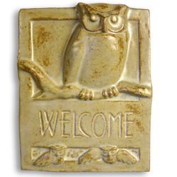 Owl Ceramic Welcome Plaque