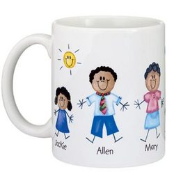 Personalized Family of Characters Icon Mug