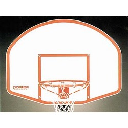 "48"" Molded Fiberglass Basketball Backboard and Goal"