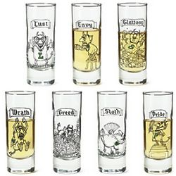 The 7 Deadly Sins Shot Glasses