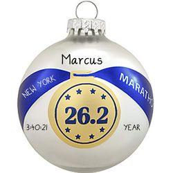 Personalized Marathon Medal Ornament