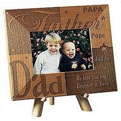 Personalized Father Wooden Frame