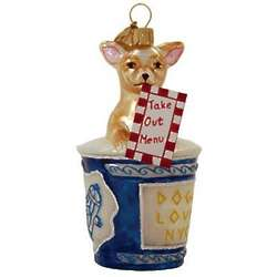 Cup o' Joe NYC Chihuahua Christmas Ornament