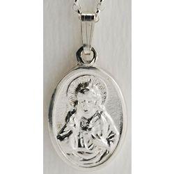 Sterling Silver Oval Scapular Medal