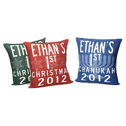 Personalized Baby's 1st Holiday Pillows