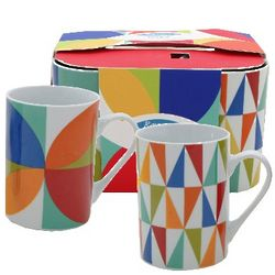 Colorful Festive Coffee Mugs Set