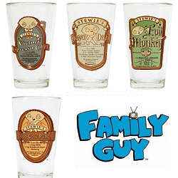 Family Guy Stewie Pint Glass Set