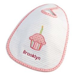 Girl's Birthday Cupcake Bib