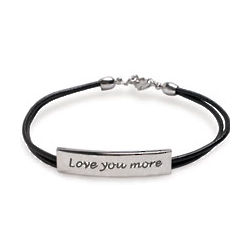 Sterling Silver Love You More Bracelet