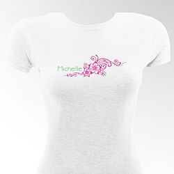 Personalized Flirty Gal Preppy Breeze Fitted T-Shirt