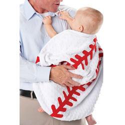 Plush Baseball Design Baby Blanket