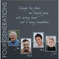 Four Generations Personalized Photo Canvas