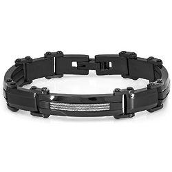 Black Plated Stainless Steel Bracelet