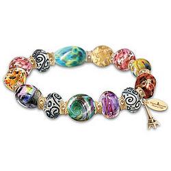 Thomas Kinkade Colors of Paris Murano-Style Glass Bracelet