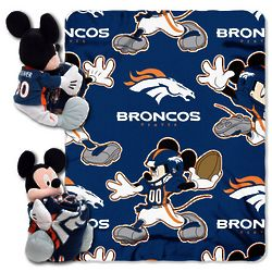 Denver Broncos Mickey Mouse Hugger Blanket
