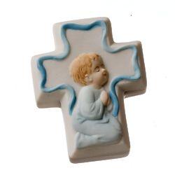 Porcelain Praying Boy Cross Rosary Box