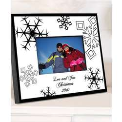 Personalized Nostalgic Snowflake Picture Frame